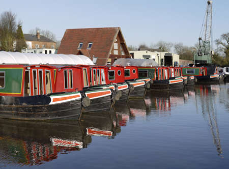 marina worcester and birmingham canal alvechurch worcestershire uk photo