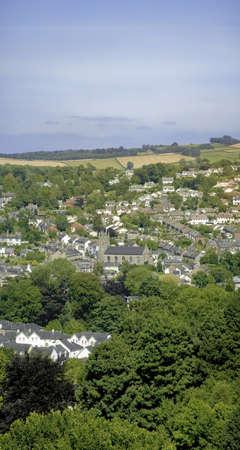 jamones: una vista sobre la ciudad de sur jamones Totnes Devon England UK