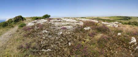 southwest: de klippen op bolberry naar beneden op de Zuid-west devon kust kust pad het zuiden hams devon Engeland uk