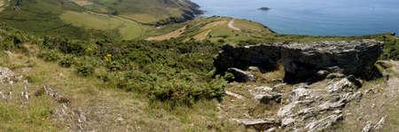 jamones: en los acantilados de bolberry abajo en el sur de Devon ruta costa oeste de la costa de South Hams Reino Unido Inglaterra Devon Foto de archivo