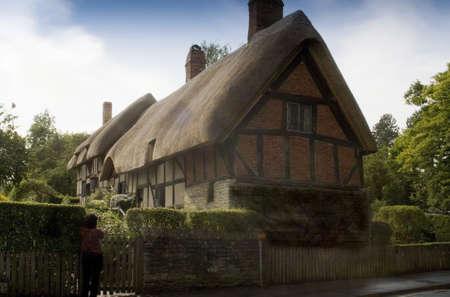 de Anne Hathaway casa casa de William Shakespeare Stratford Shottery esposa-upon-Avon, Reino Unido de Inglaterra gran Breta�a Reino Unido de la UE Foto de archivo - 4042588