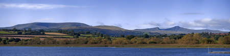 brecon beacons: llangorse lake llangors powys brecon beacons national park wales uk