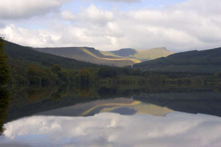 brecon beacons: reservoir in the brecon beacons national park powys wales uk Stock Photo