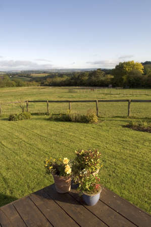 brecon beacons: cottage lawn  brecon beacons national park powys wales uk