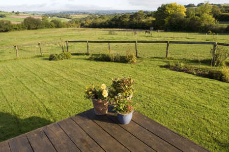 cottage lawn  brecon beacons national park powys wales uk photo