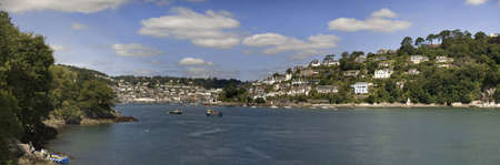 view from dartmouth castle on the estuary of the river dart devon photo
