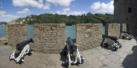 dartmouth castle on the estuary of the river dart devon photo