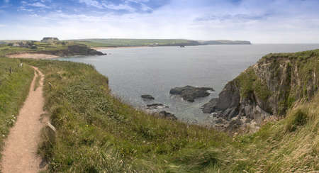 jamones: puntos de vista de la costa de Devon bantham a jamones thurlestone el sur desde el sur oeste de Devon sendero