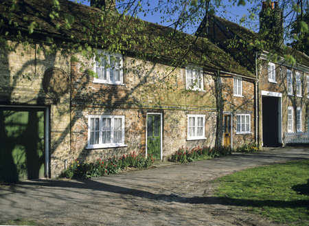 A row of cottages wendover village buckinghamshire england uk photo