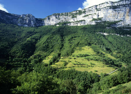jura: village in the jura mountains national park franche compte france europe Stock Photo