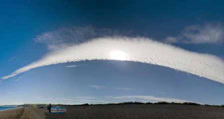 south west coast path: nube di sabbia su spiedo a slapton sud prosciutti devon sulla costa sud occidentale percorso Archivio Fotografico
