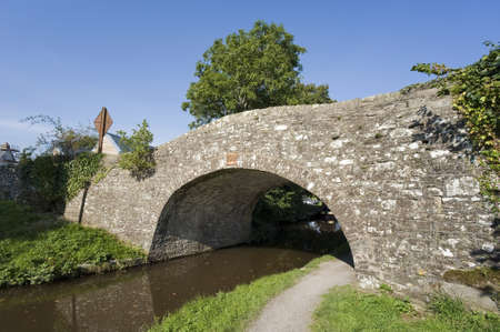 brecon beacons: monmouthshire and brecon canal brecon beacons national park centre of brecon town powys wales uk