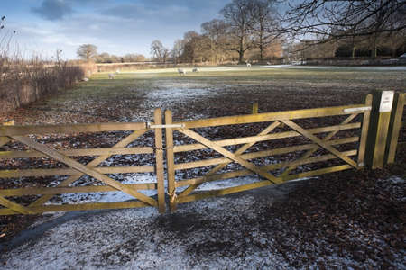 gated: a gated entrance to field