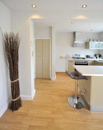 Farbbild Küche in neu restaurierten Haus umgebaut Arbeit Oberflächen