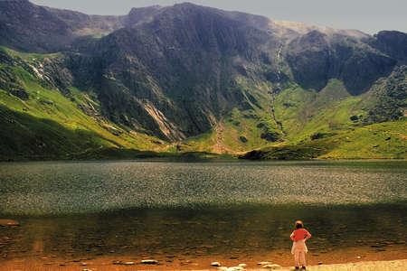 streifzug: Llyn Idwal Snowdonia National Park Gwynedd Gwynedd Wales Martyn David Hughes Lizenzfreie Bilder