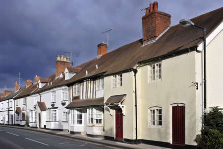 warwickshire: the high street henley in arden village warwickshire england uk