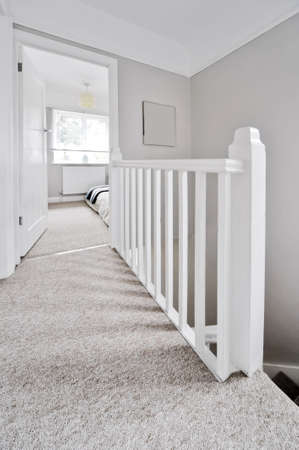 hallway in interior of house photo