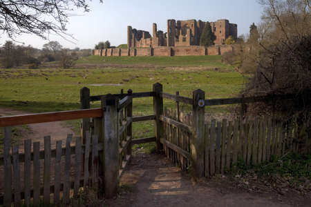 kenilworth castle warwickshire the midlands england uk from the millenium trail Stock Photo