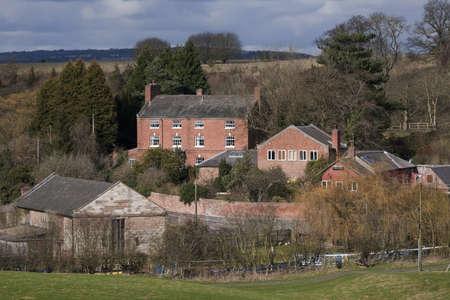 tardebigge: villaggio con case in campagna tardebigge Worcestershire