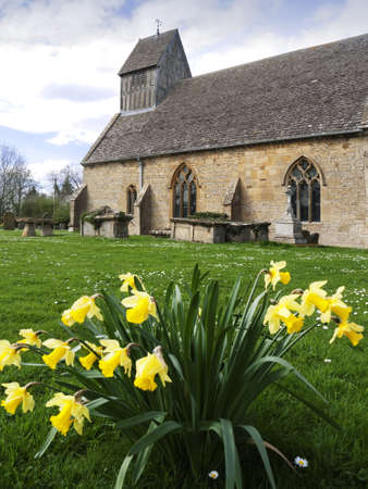 warwickshire: the church at long marston village warwickshire