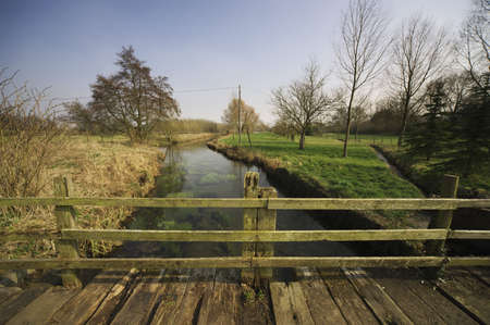 slaughter: the river eye on the cotswold way footpath lower slaughter in the cotswolds Stock Photo