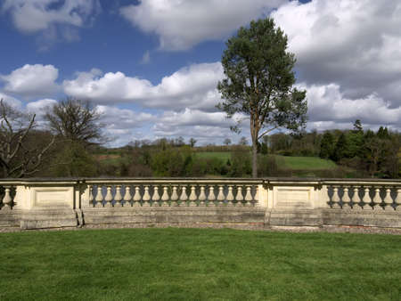 stately home: The exterior of a Stately Home. Stock Photo