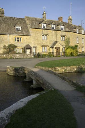 slaughter: lower slaughter village the cotswolds gloucestershire the midlands england uk