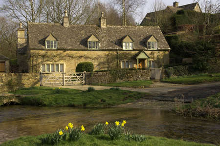 rural community: view of the COTSWOLDS upper slaughter village