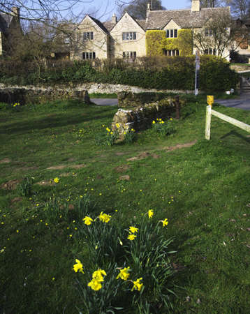 slaughter: a view of upper slaughter village in the cotswolds Stock Photo