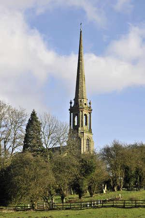 tardebigge: tardebigge chiesa lungo il percorso della via monarchi Worcestershire sentiero a lunga distanza