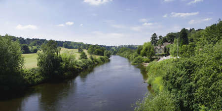 worcestershire: england the midlands worcestershire the valley of the river severn arley