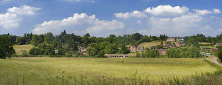 england the midlands worcestershire the valley of the river severn arley - view from arley station on the severn valley railway photo