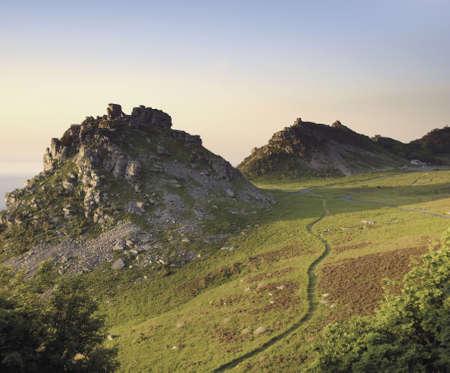 lynton: the valley of the rocks lynton in devon Stock Photo