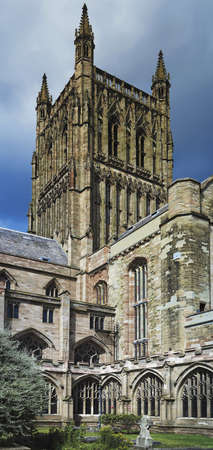 worcestershire: The Cathedral Church of Christ and the Blessed Mary the Virgin of Worcester Stock Photo