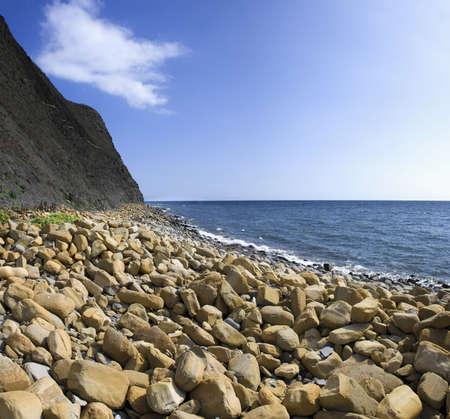 south west coast path: Kimmeridge baia sulla via della costa ovest sud dorset