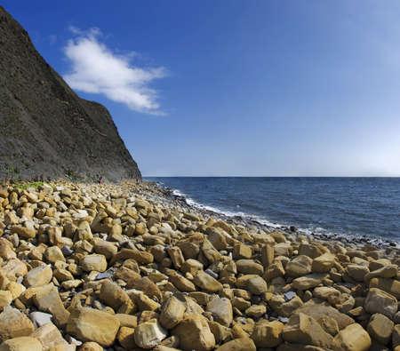 south west coast path: Kimmeridge baia sul percorso sud costa occidentale dorset Archivio Fotografico