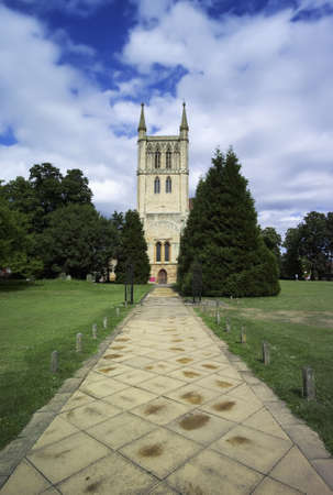 worcestershire: the old benedictine pershore abbey park in worcestershire