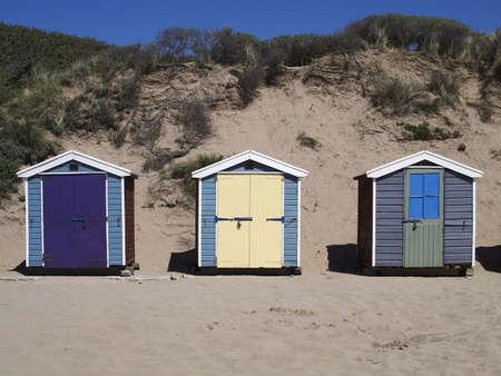 beach hut: beach huts at saunton sands devon