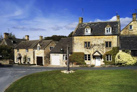 english village: house high street stanton cotswolds gloucestershire uk