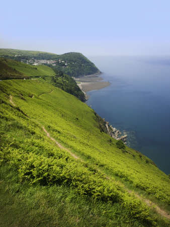 lynmouth: the cliffs at countisbury hill lynton lynmouth devon