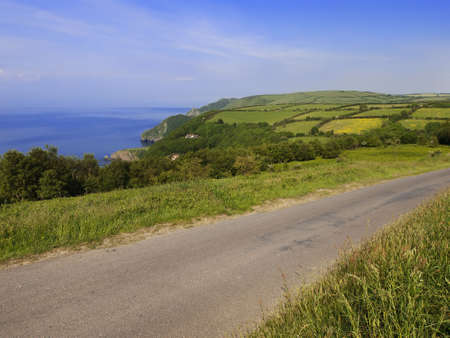lynton: the coast of the valley of the rocks lynton devon along the coastal path