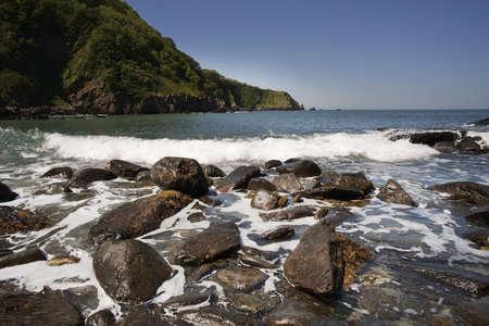 lynmouth: cove and sea lynton devon