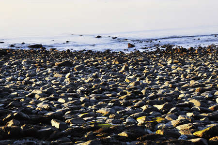 lynmouth: the rocky shore and headland at lynmouth devon Stock Photo
