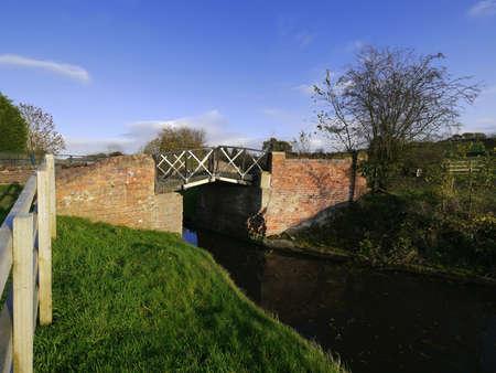 towpath: bridge Stock Photo