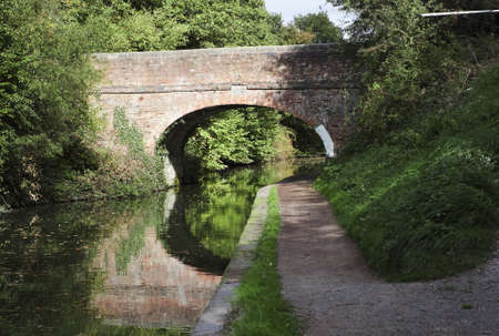 The Worcester and Birmingham canal at Tardebigge canal village in Worcestershire, the Midlands, England. Stock Photo - 6396303