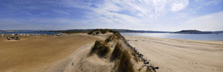 burrows: crow point on the estuary of the river taw braunston burrows nature reserve and conservation area devon