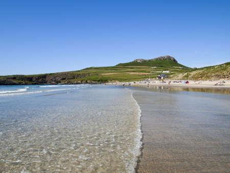 pembrokeshire: whitesands beach, st davids, pembrokeshire coast, dyfed wales uk Stock Photo