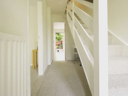 stairs and stair carpet inside a newly modernised house Stock Photo - 10883185