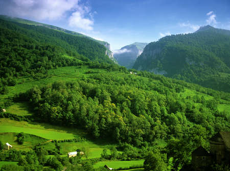 The pyrenees on the france spain border between spain and france Stock Photo - 11771097