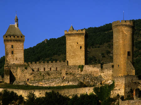 francais: chateau old town foix pyrenees france europe Stock Photo